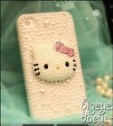 3D Hello Kitty iPhone 4s 5 5s Bling Crystal Luxury Peal Pink Handmade Case skin