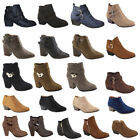 Womens High Heels Booties Ankle Boots Lace Up fashion low Shoes Wedge...