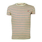 Mens Weekend Offender Mexico Striped Cream Navy Red Crew Neck T Shirt
