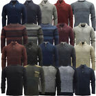 Mens Jumpers Thick Heavy Weight Knitted Knitwear Winter Jumper