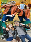 Couples Lovers His and Hers Unisex PU Leather Overcoat Clothing Jacket Punk