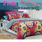 300TC Frida Reversible Quilt Cover Set 100% Cotton - QUEEN KING