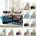 SOFT LUXURY PINTUCK EGYPTION COTTON HAND TOWEL BATH SHEET GIFT SET OF 3 TOWELS
