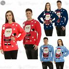 Mens Womens Ladies Unisex Christmas Snowflake Pom Pom Santa Claus Sweater Jumper