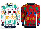 Mens Gingerbread Classic Knitted Novelty Christmas Jumper