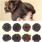 Vogue Clip In Curly Wave Synthetic Hairpiece Dish Hair Buns Contract Tail Wigs