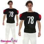 Mens American Football Player NFL Footy Scores Fancy Dress Costume Party Outfits