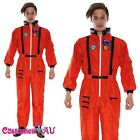 Mens Astronaut Jumpsuit Space NASA Spaceman Uniform Fancy Dress Costume