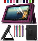 "Specify Leather Case Cover+Gift For 7"" Verizon Ellipsis 7 4G LTE Tablet DZP"