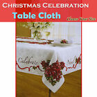 Choose Your Size - Christmas Tablecloth Celebration Rectangle 4-6, 6-8, 8-10