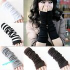 Hot Style Lady's Girls Soft Arm Warmer Long Fingerless Gloves 6 Colors