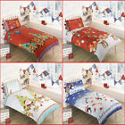 Christmas Duvet Cover + Pillowcase XMas Children Quilt Cover Bed Single Double