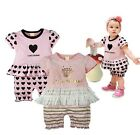 Baby / Toddler Girl One-piece Heart / Crown Print Tutu Romper 6-24 months