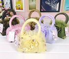 Girl Gift Lace embroidered Flower Mini Handbag Purse Coin Cosmetic Case Bag cute