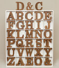 Natural Shabby Chic Vintage Large Wooden Block Freestanding A-Z Alphabet Letters