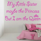 MY LITTLE SISTER Wall Sticker Art Quote Decal Girls Bedroom Transfer Gift
