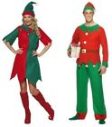 MENS LADIES Xmas ELF FANCY DRESS COSTUME SANTA CHRISTMAS Outfit