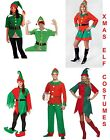 Christmas Elf Fancy Dress Costume Santas Little Xmas Helpers Mens Ladies