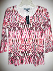 Shirt Blouse Top Tshirt KAREN SCOTT Macy's Berry Blossom Peach Pink Print NEW