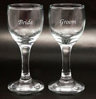 Personalised Pair of 50ml Tall Liqueur Glasses, Gift Box, Engraved Wedding Gift
