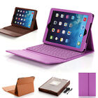 For iPad Air iPad 5 5th Gen Stand Folio Case Cover w / Wireless Bluetooth Keyboard