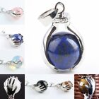1PC Different Gemstone Stone Hand Hold Ball Bead Stone Pendant Charms Jewelry