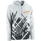 Slippery Adult Switch Front Zip Up Hoody Hoodie White ALL SIZES