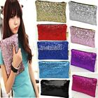 HOT Shiny Sparkling Bling Clutch Handbag Evening Bag Party Sequins wallet LM