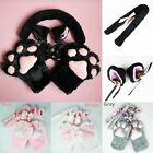 Anime Cosplay Costume Cat Ears Plush Paw Claw Gloves Tail Bow-tie popular et