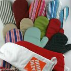 56051 BBQ Barbeque Extra Long 100% Cotton Single Oven Glove Kitchen Baking Mitts