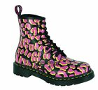Original Classic Doc Dr Martens 8 Loch 1460 Black Pink Yellow 13661010