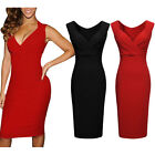 Sexy Womens Ladies V-Neck Sleeveless Bodycon Cocktail Party Evening Slim Dresses