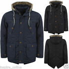 MENS CARGO PADDED FUR HOODED PARKA MILITARY WINTER POCKETS ZIP TREND JACKET COAT