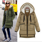 Hot Fashion Women's Winter Thicken Hooded WARM duck Down Military Jacket Coat