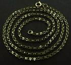 "375 9CT SOLID YELLOW GOLD 16"" 18"" 20"" ROUND BELCHER CHAIN LINK PENDANT NECKLACE"