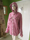 Fat face red check hooded button front shirt Sizes S-L