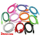 3 meters USB Braided Wire Data Sync IOS8 Cable Woven Colorful iPhone 5,5S,5C,6