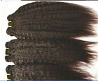Kinky Straight Virgin Brazilian Bundle remy human hair weft Weave extension 100g