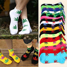 Marijuana Weed Maple Leaf Plantlife Cotton Short Sport Low Ankle Men Women Socks