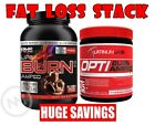 **STACK** RHS LIPO BURN AMPED + OPTIBURN AMPED - THERMOGENIC PROTEIN + THERMOGEN