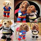 Pet Dog Halloween Custome Cosplay Clothes Superman Batman Cat Suit Party Coat