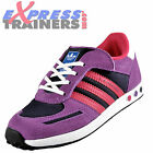 Adidas Originals Infants Girls Kids LA Trainers Velcro Purple * AUTHENTIC *