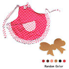New Polka Dot Womens Bowknot Kitchen Bib Apron Dress w/ Pocket + Hair Holder