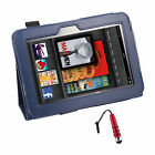 """PU Leather Case Stand W/ Stylus Holder For Amazon Kindle Fire HD 9""""+Stylus R"""