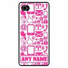 PERSONALISED PINK INTERNET PHONE/PC SYMBOLS PRINT iPHONE 5 HARD CASE/COVER
