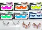 FALSE EYELASHES NEON 80's FANCY DRESS