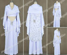 Star Wars Cosplay Padme Amidala Costume White Dress Cloak Outfit Uniform Suit