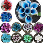 9PCS Real Touch Calla Lily Wedding Bridal Bouquets Home Decor Artificial Flowers
