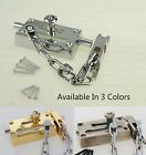 546512 Main Door Saftey Home Security Chain Bolt Lock Gold Silver Antique