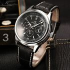 KS Luxury Mens Imperial Leather Date Day Automatic Mechanical Sport Wrist Watch